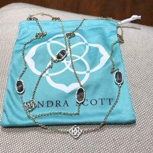 Kendra Scott Sonya Gold Necklace w/ gray stones